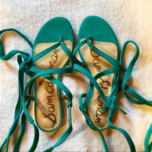 NWOT Sam Edelman Davina Lace Up flat sandals